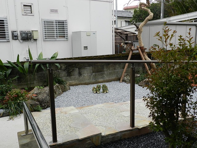 I邸庭リフォーム 川原造園2