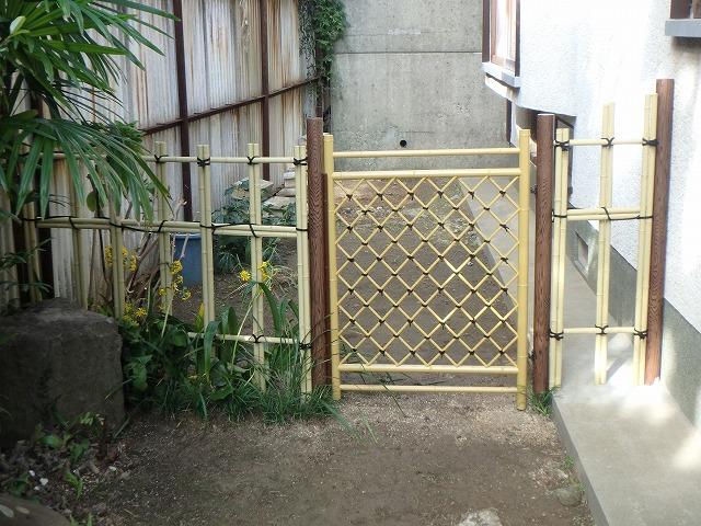 某邸宅 四ツ目垣 川原造園2